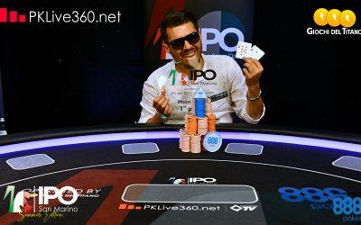 Francesco Di Domenico vince l'IPO 888Poker San Marino su 756 entries, runner up Domenico Colombo e Christian Rotundo completa il podio su 80 pagati!