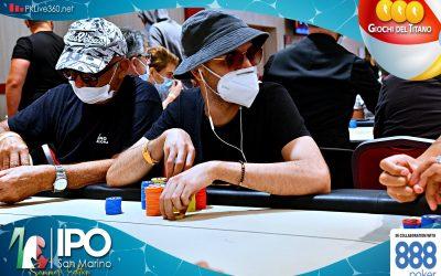 Dalla bolla a 50 left nel segno di Andrea Shehadeh nel Day2 di IPO 888Poker San Marino! Al via l'ultimo livello di giornata