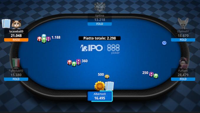 picciurro14 vince l'IPO PKO Event 888Poker bolla per lucaseba89 mentre il reg fabdelbono dopo tanti itm conquista il Mini PKO!