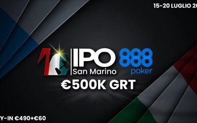 IPO e 888poker ancora insieme con due trofei in una settimana